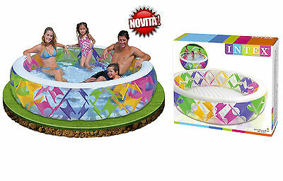 INTEX PISCINA GONFIABILE BAMBINI FAMILY 229 x 56 cm MIX COLORI FANTASY ESTATE