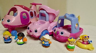 Fisher  Price  Little  People  Pink  Airplane,  Truck,  Boat  &