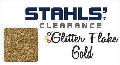 "12"" x 19"" - 15 Craft Sheets - Stahls' Glitter Flake - Heat Transfer Vinyl - Gold"