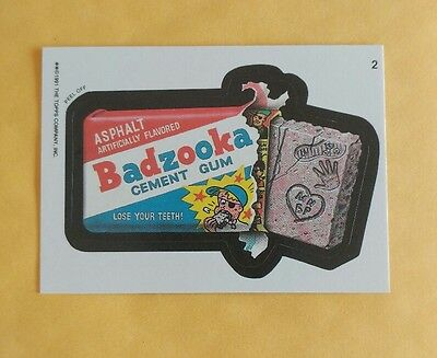 1991 Topps Wacky Packages sticker card #2 Badzooka Cement Gum (Puzzle variation)