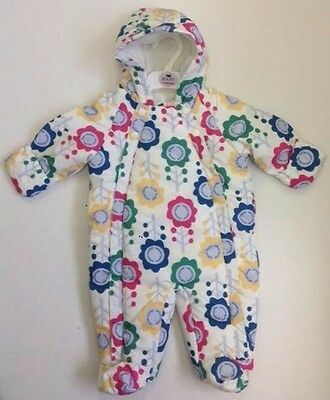 ed30be5155b2 BABY GIRLS SNOWSUIT Cream Floral Marks   Spencer 3 6 9 12 18 Months ...