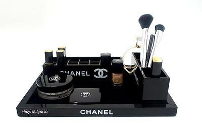 Chanel SET 3 Vanity Cosmetic Organizer VIP GIFT Tray  Makeup Brush Holder Box UK