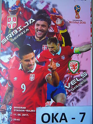 Serbia vs Wales Official Match Programe Qualification For World Cup 2018 Russia