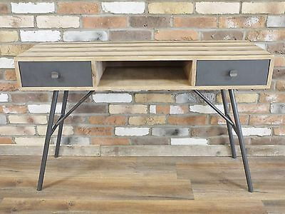 Industrial Style Wood + Metal Computer Desk Retro Office Dressing Table
