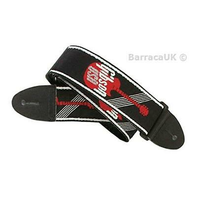 NEW Gibson Gear 2 Inch Woven Guitar Strap with Logo - Red