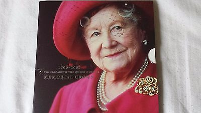 2002 Five Pound Coin £5 Pack Hm Queen Mother Memorial Crown, Royal Mint Qmclbu