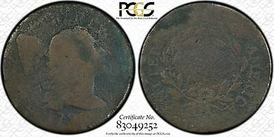 1796 us flowing hair large cent PCGS AG Details R-3 liberty cap copper