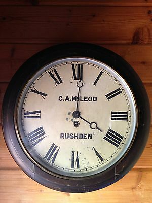 G.A.McLEOD RUSHDEN SCHOOL / RAILWAY DIAL CLOCK