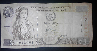 1 x Cyprus banknote.