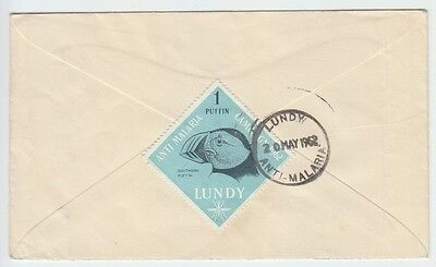 Lundy 1962 Scarce Anti-Malaria Usage On Cover