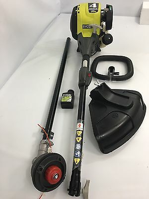 """Ryobi RY34447 4-Cycle 18"""" 30cc Attachment Capable Straight Shaft Gas Trimmer"""