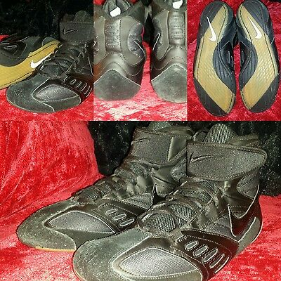 NIKE Speed Sweep V RARE Wrestling Shoes Black  11.5  EXCELLENT CONDITION !!