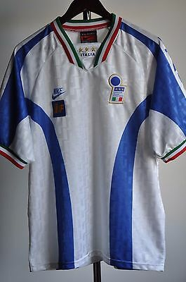 Italy Home Football Shirt  Nike Premier 1998 Size L Made in The  UK