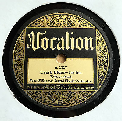 Fess Williams Royal Flush Orch. - OZARK BLUES / Alligator Crawl - HOTDANCE 1927