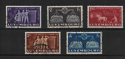 Luxemburg 1951 To Promote United Europe part set sg 544-8 Mint/Used - Cat £155
