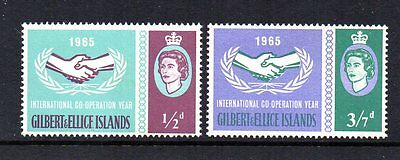 Gilbert And Ellice Islands 1966 Who Headquarters Sg 127/128