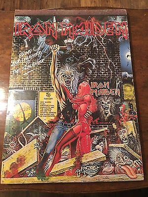 "Rare Iron Maiden ""Bring Your Daughter"" 1990's Promo Poster on Wood Backing 19x27"