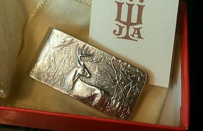 James Avery Sterling Silver Forest Buck Money Clip NEW