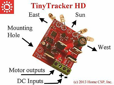 TinyTracker HD, Solar Tracker Controller Electronics, Single Axis 12V - 30VDC 8A