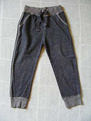 NEXT Boys Blue Grey Marl Joggers 4-5 Years Jogging Trousers VGC