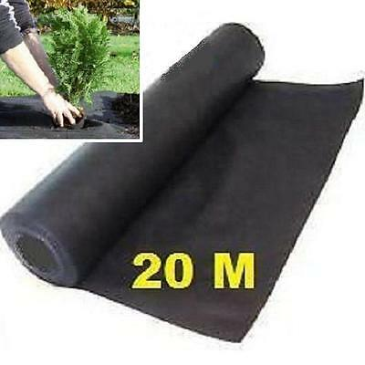 20 Metres Porous Weed Control Landscape Garden Fabric Breathable Membrane M 10