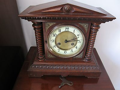 Antique Junghans German Architectural 8 Day Chiming Mantel Clock Working