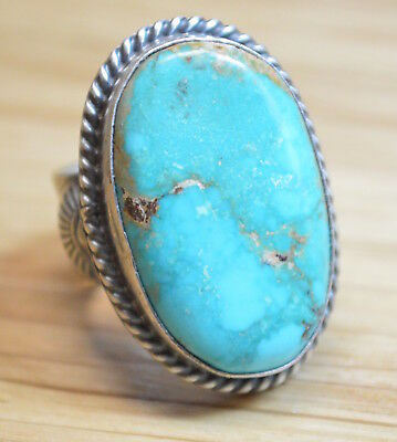 Amazing A+ Fox Turquoise Ring Size 7.5 4324