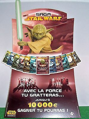 RARE COLLECTOR: STAR WARS PLV YODA jeu de grattage 2005.