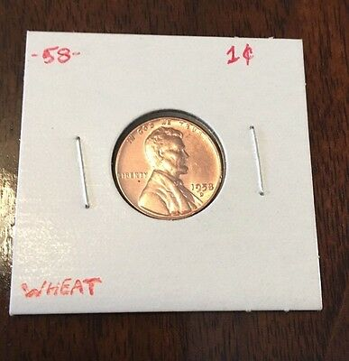 1958 D Lincoln Wheat Penny Tonning on Reserve