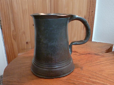 Characterful Victorian 1/2 Pint Pewter Tankard-Fully Marked
