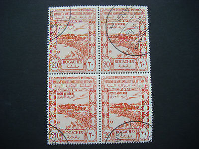 YEMEN 1951 20b Over crowd of people Airmail Block of 4 used  SG 86  CV £22.00
