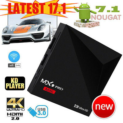 2017 NEW Quad Core Android 7.1 Nougat TV Box 17.2 HDMI Media Player Streamer HD