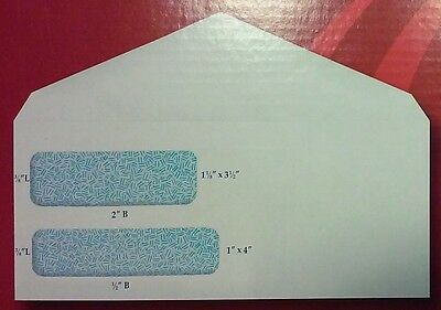 New 120 Double Window Security #9 Envelopes with 49 ¢ Combination of USPS Stamps