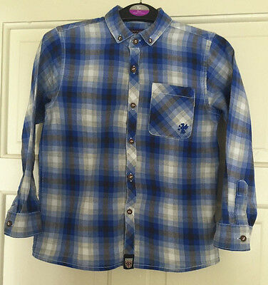 Next Boys Blue Check Long Sleeve Shirt Age 6 Years