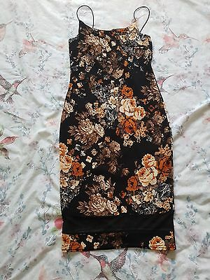 Topshop Women's Floral Dress Size 12
