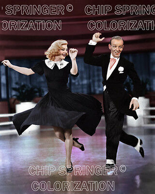 GINGER ROGERS & FRED ASTAIRE in Swing Time 3 | 8X10 COLOR PHOTO BY CHIP SPRINGER