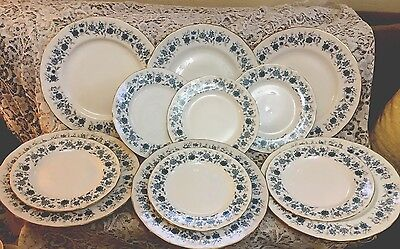 Vintage Bone China *Braganza.*  Six Dinner Plates and Six Salad Plates