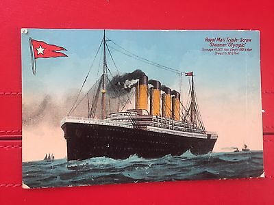 Early postcard of Royal Mail Triple-Screw Steamer Olympic