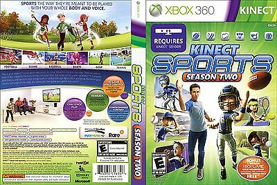 Kinect Sports: Season Two (Microsoft Xbox 360, 2011),Book Included,Free Shipping