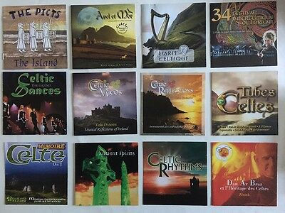 Lot de 12 cd de musique celtique