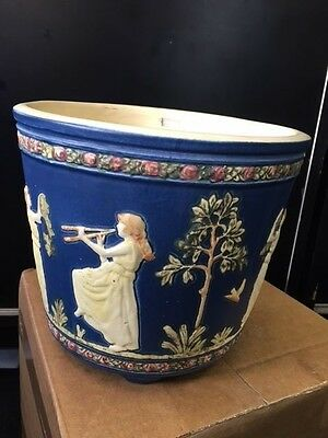 Weller Blue Ware Lady Playing Flute