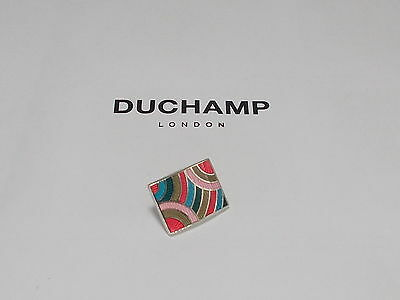 Sterling 925 Silver  =Ripple Tie/lapel Pin By Duchamp London =