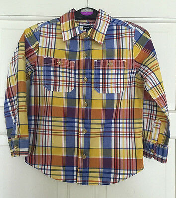 Gap Boys Multi Colour Check Long Sleeve Shirt Age 5T