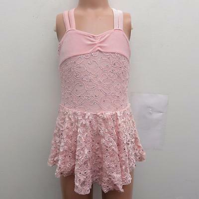 Dance Costume Small Child Pink Lace Sparkle Dress Ballet Solo Competition