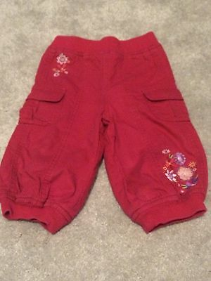 Baby Girls Red Trousers - Baby Mac - 6-9 Months