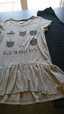 girls age 11 years t-shirt and leggings set from next