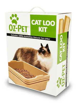 Oz Pet Cat Loo Kitty litter tray - Charcoal/Surfmist