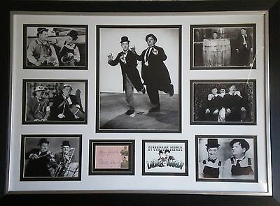 Laurel & Hardy Signed Photo Display Framed Stan Laurel & Oliver Hardy AFTAL 175