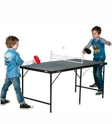 Slazenger Childrens 5ft Indoor Folding Table Tennis Table with bats and balls