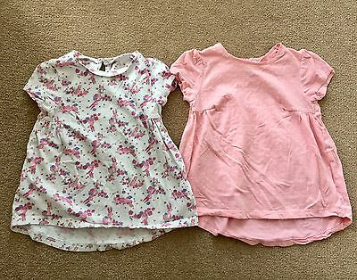 2 x Tunic Tops Baby Girl Mothercare 12-18 Months Bundle